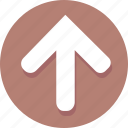 arrow, direction, navigation, pointer, up, upload icon