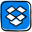 box, cloud, cloud storage, dropbox, file hosting, file sharing, media, social, storage icon
