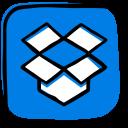 box, cloud, cloud storage, dropbox, file hosting, file sharing, media icon