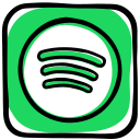band, media, music, playlist, radio, social, songs, spotify icon