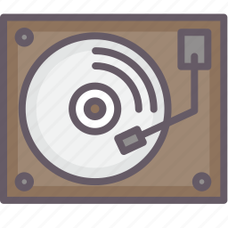 music, old school, plates, turntable icon