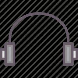 earphones, headphone, headset, music icon