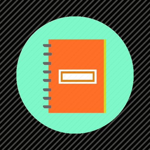 file, pad, spiral, writing icon