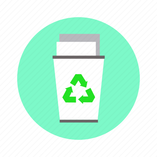 dustbin, recycle, reuse, trash icon