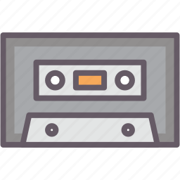cassette, old school, storage, tape icon