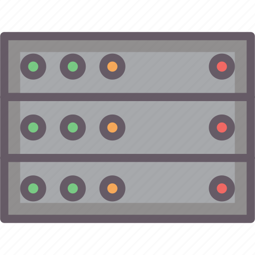 data, network, servers, storage icon