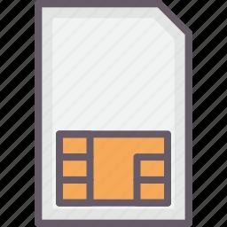 card, phone, sim, storage icon