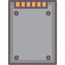 computerpart, flash, ssd, storage icon