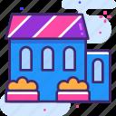 bungalow, hotel, house icon