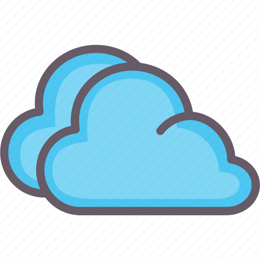 clouds, cloudy, foggy, weather icon