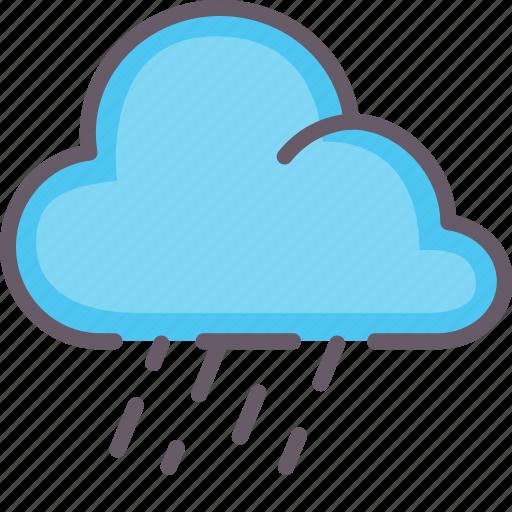 cloud, downpour, rain, weather icon