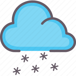 cloud, snow, weather, winter icon
