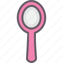 hand mirror, make-up, mirror, woman icon