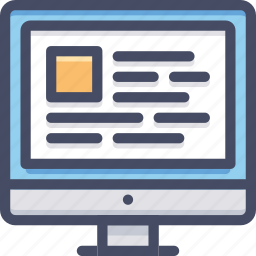 computer, device, internet, monitor, screen, technology, web icon