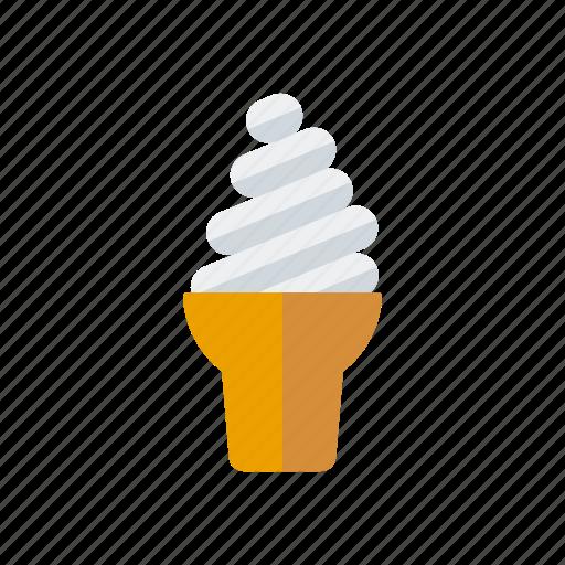 cake, candy, ice cream, sundae, sweets, waffle icon