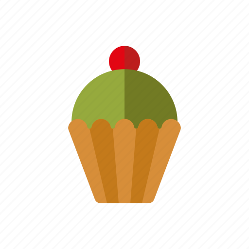 cake, candy, cupcake, pastry, pistachio, sweets icon