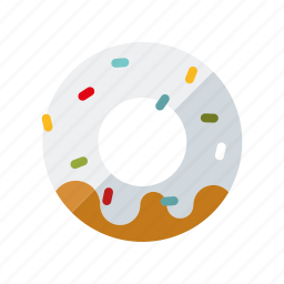 cake, candy, donut, doughnut, pastry, sprinkles, sweets icon