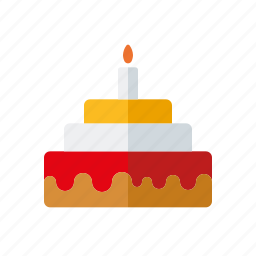 birtday cake, cake, candle, sweets icon