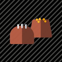candy, chocolate, fudge, sweetmeats, sweets icon