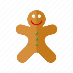 cake, candy, christmas, cookie, gingerbread man, pastry, sweets icon