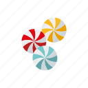candy, drops, hard candy, sweets, swirl icon