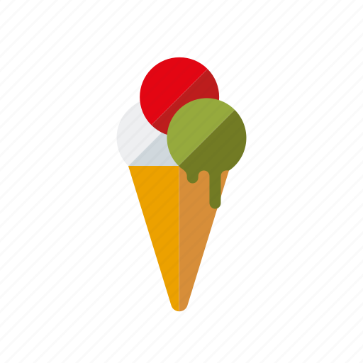 Cake, candy, cone, ice cream, italian, sweets, waffle icon - Download on Iconfinder