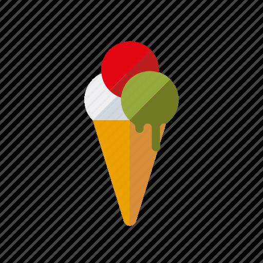 cake, candy, cone, ice cream, italian, sweets, waffle icon