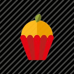 cake, cupcake, lemon, pastry, sweets icon