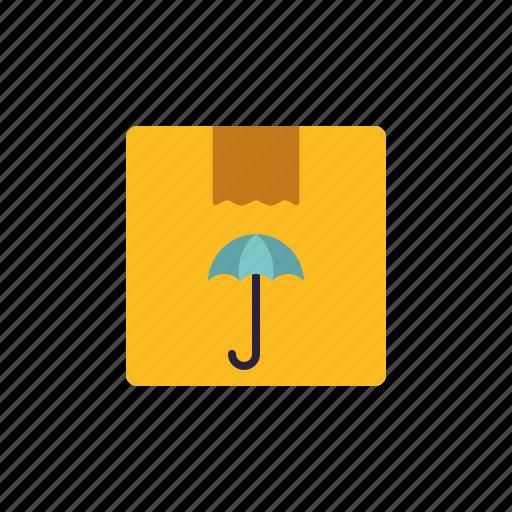 cargo, logistics, parcel, shipping, transport, umbrella icon