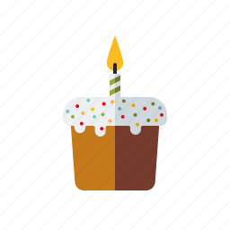 cake, candle, easter, food, holidays, pastry, religion icon