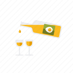 advocaat, bottle, drink, easter, glasses, holidays, liqueur icon