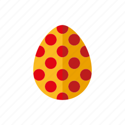 easter, egg, holidays, painted, pattern, polka dots, religion icon