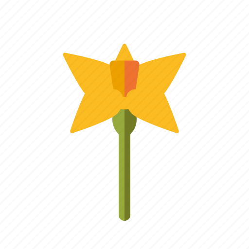 blooming, daffodil, easter, flower, holidays, religion, spring icon