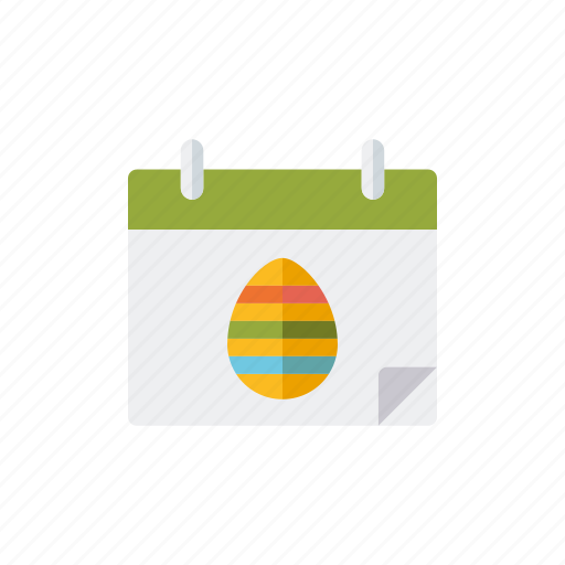 calendar, date, easter, egg, holidays, religion icon