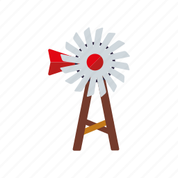 agriculture, equipment, farm, pump, wind turbine, windmill icon