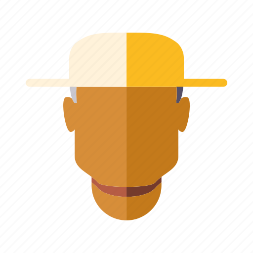 agriculture, farm, farmer, man, straw hat icon
