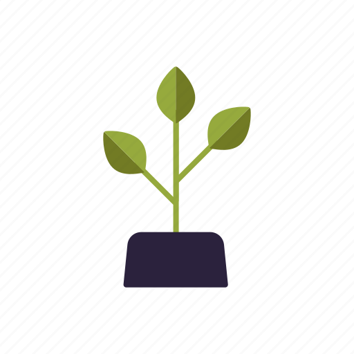 agriculture, farm, growth, leaves, plant, soil, sprout icon