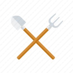 agriculture, equipment, farm, forkm, shovel, spade, tools icon