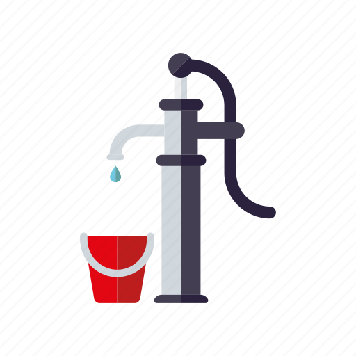agriculture, bucket, farm, pump, water icon
