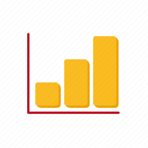 accounting, bar graph, business, chart, finance icon