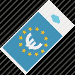 bill, cash, currency, european, euros, finance, money icon