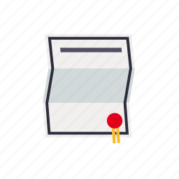 certificate, contract, document, finance, paper, seal icon