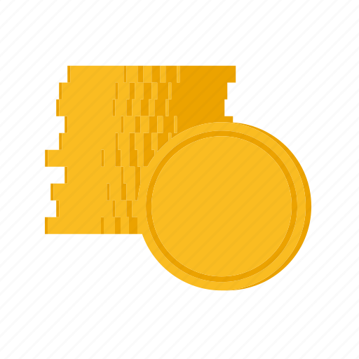 cash, coin, finance, money, stack icon