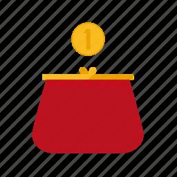 coin, finance, money, purse icon