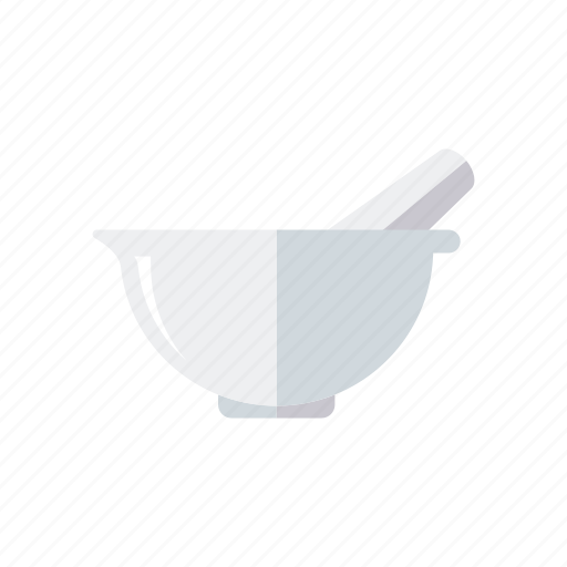 chemistry, equipment, laboratory, mortar, pestle, research, science icon