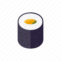 avocado, food, japanese, maki, roll, sushi icon