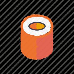 caviar, food, japanese, roll, salmon, sushi icon