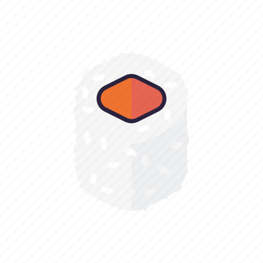 food, inside out, japanese, rice, roll, salmon, sushi icon