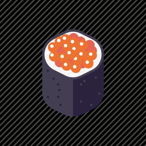 caviar, food, japanese, roll, seaweed, sushi icon