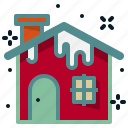 building, christmas, city, home, house, snow, winter icon